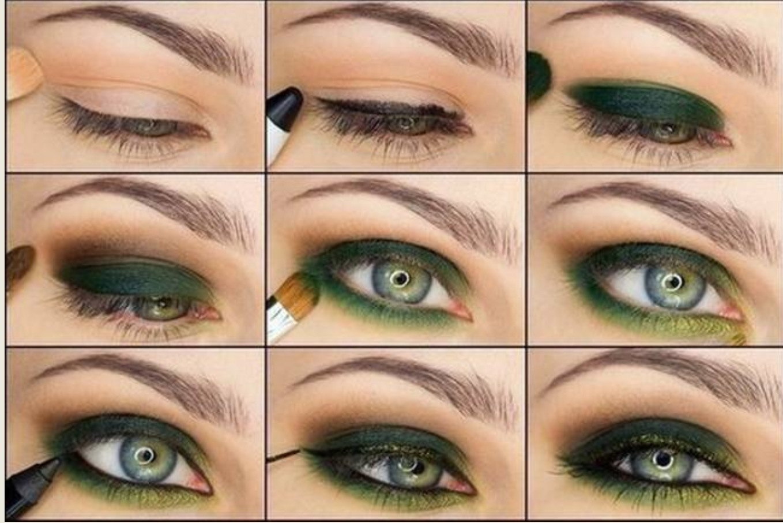 Пошаговый вечерний макияж для зеленых глаз