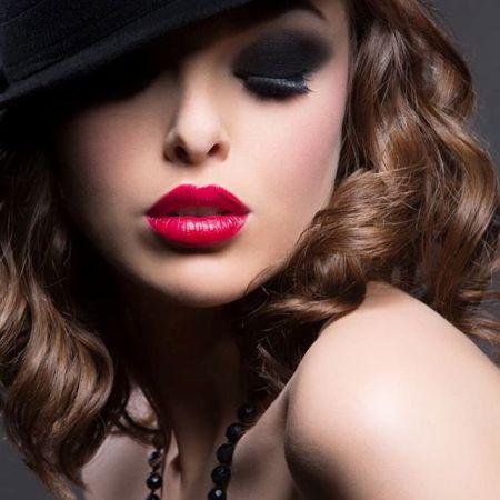 макияж из черных теней