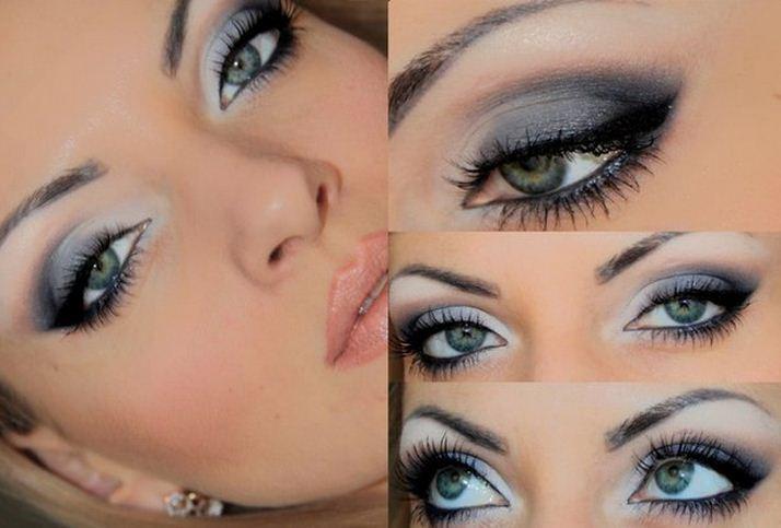 Макияж для серо зелено голубых глаз