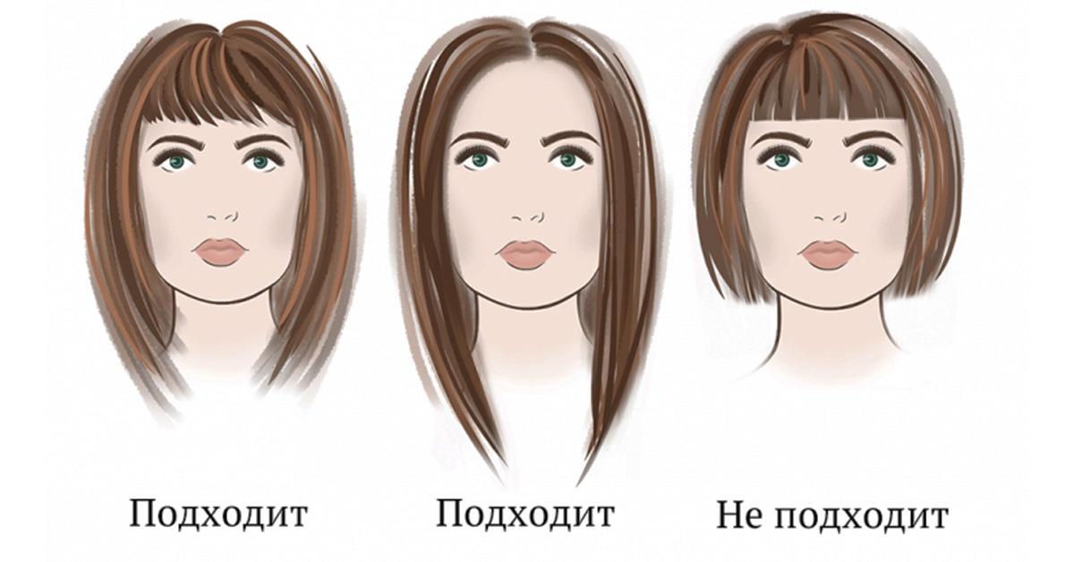 Стрижка волос подходят с прямоугольным лицом